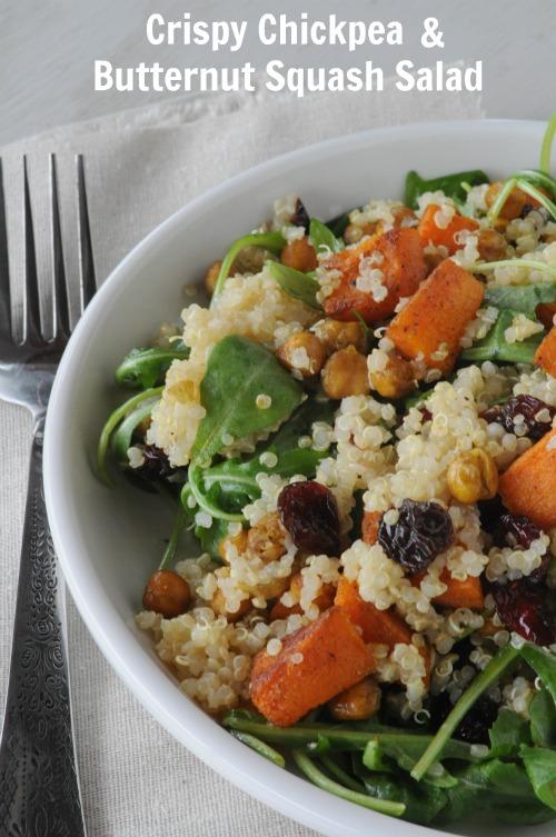 Crispy Chickpea & Butternut Squash Salad, Mountain Mama Cooks