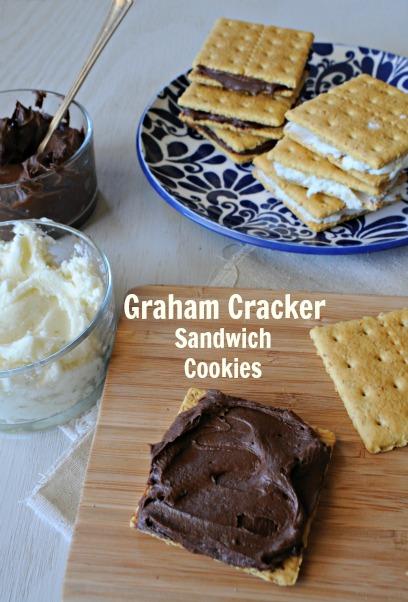graham cracker sandwich cookies, www.mountainmamacooks.com