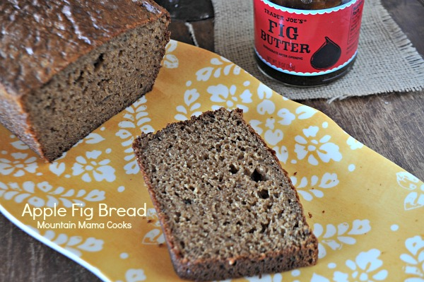 Apple-Fig Quick Bread Recipe, www.mountainmamacooks.com