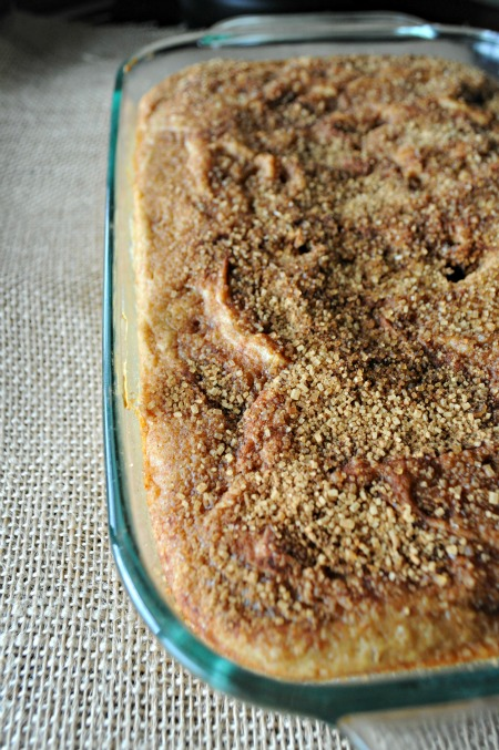 Pear Butter Snack Cake with Cinnamon-Sugar Topping, www.mountainmamacooks.com