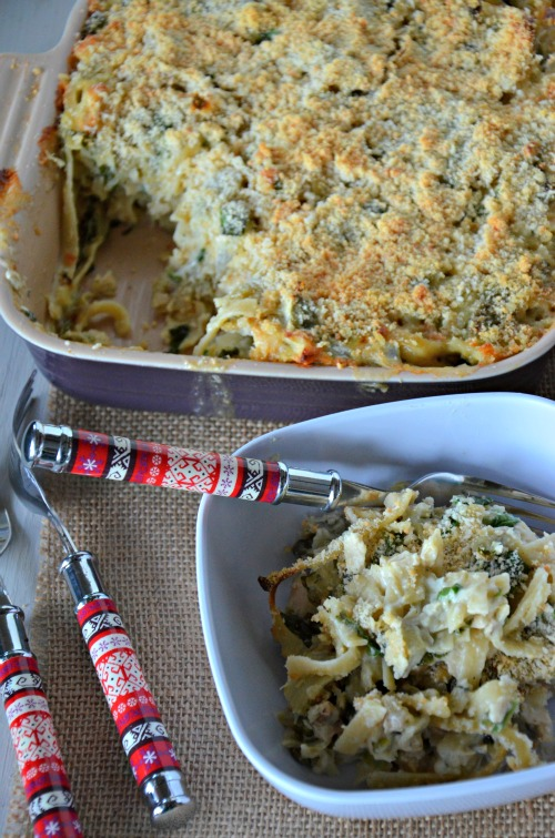 quick leftover casserole with #chicken #artichokes and #spinach, www.mountainmamacooks.com