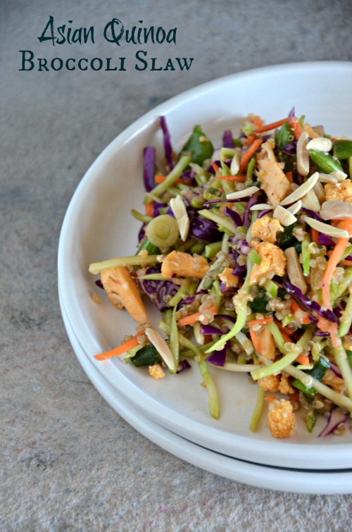 Asian Quinoa Broccoli Slaw, www.mountainmamacooks.com #glutenfree #vegan #recipe