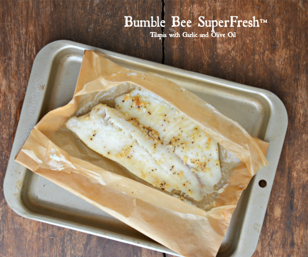 Bumble Bee Tilapia with Garlic and Olive Oil, www.mountainmamacooks.com