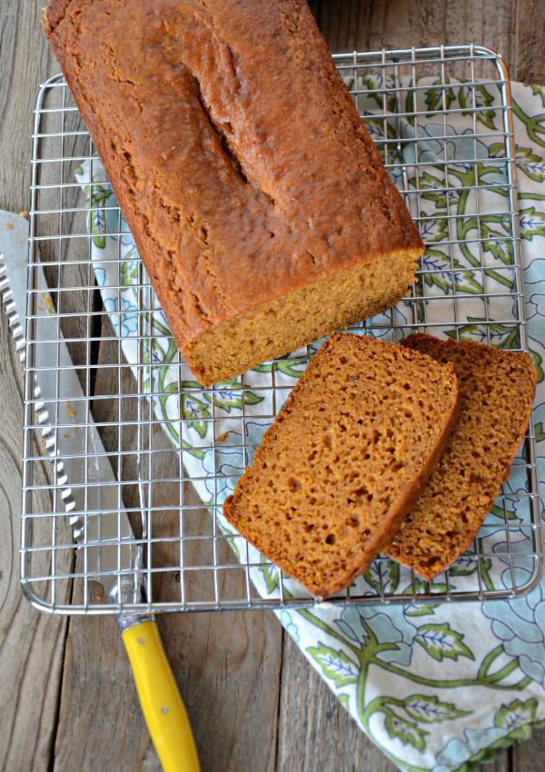 Orange Pumpkin Bread with Cinnamon Cream Cheese Icing   mountainmamacooks.com