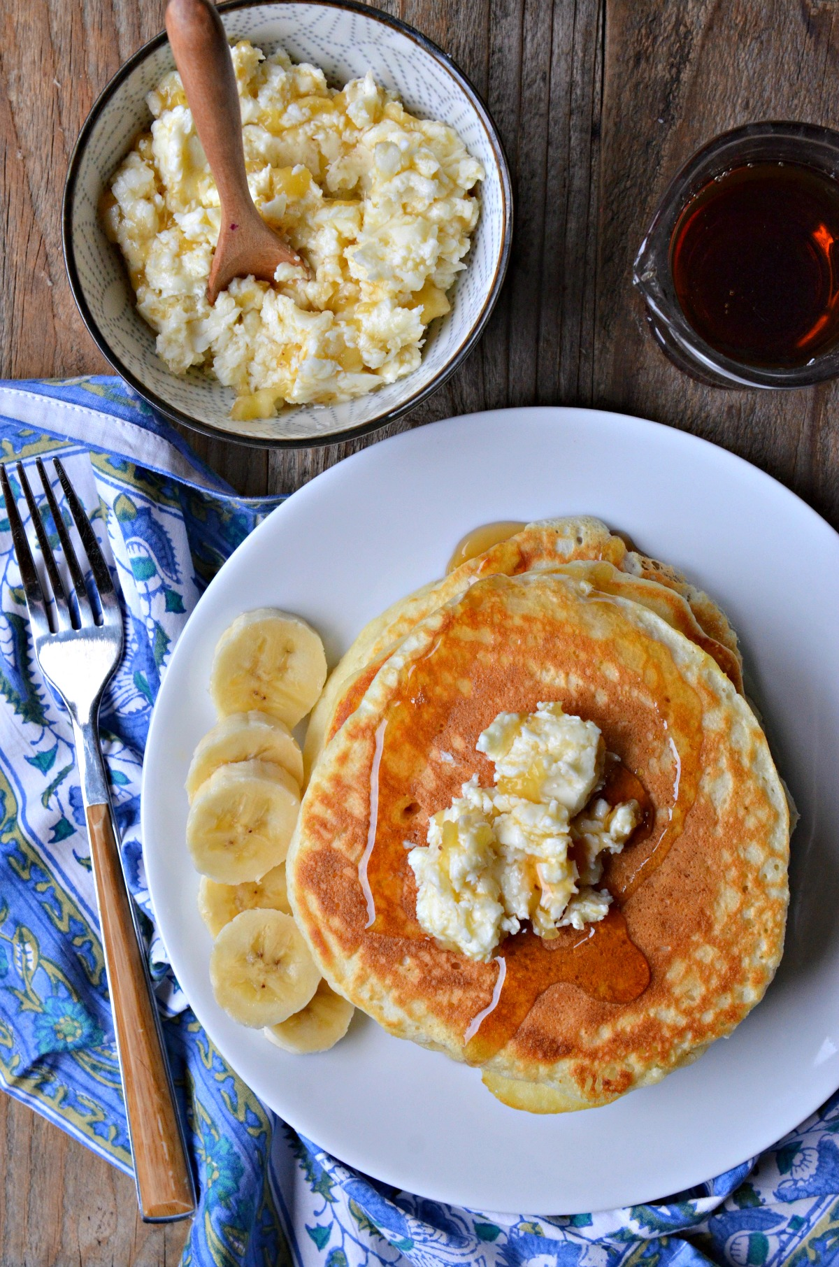 High Altitude Pancakes with Banana Butter | www.mountainmamacooks.com