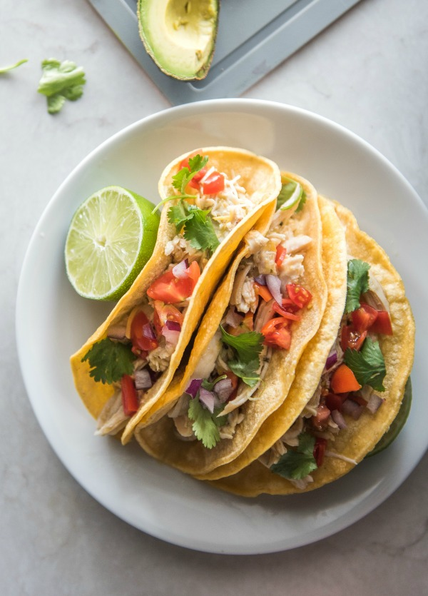 Instant Pot Chicken Ranch Tacos | www.mountainmamacooks.com